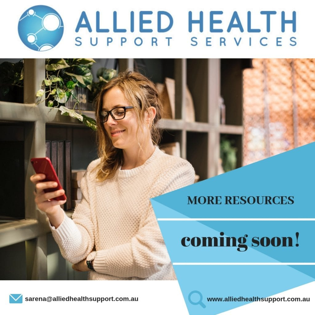 Allied Health Support Services More Resources Coming Soon Banner