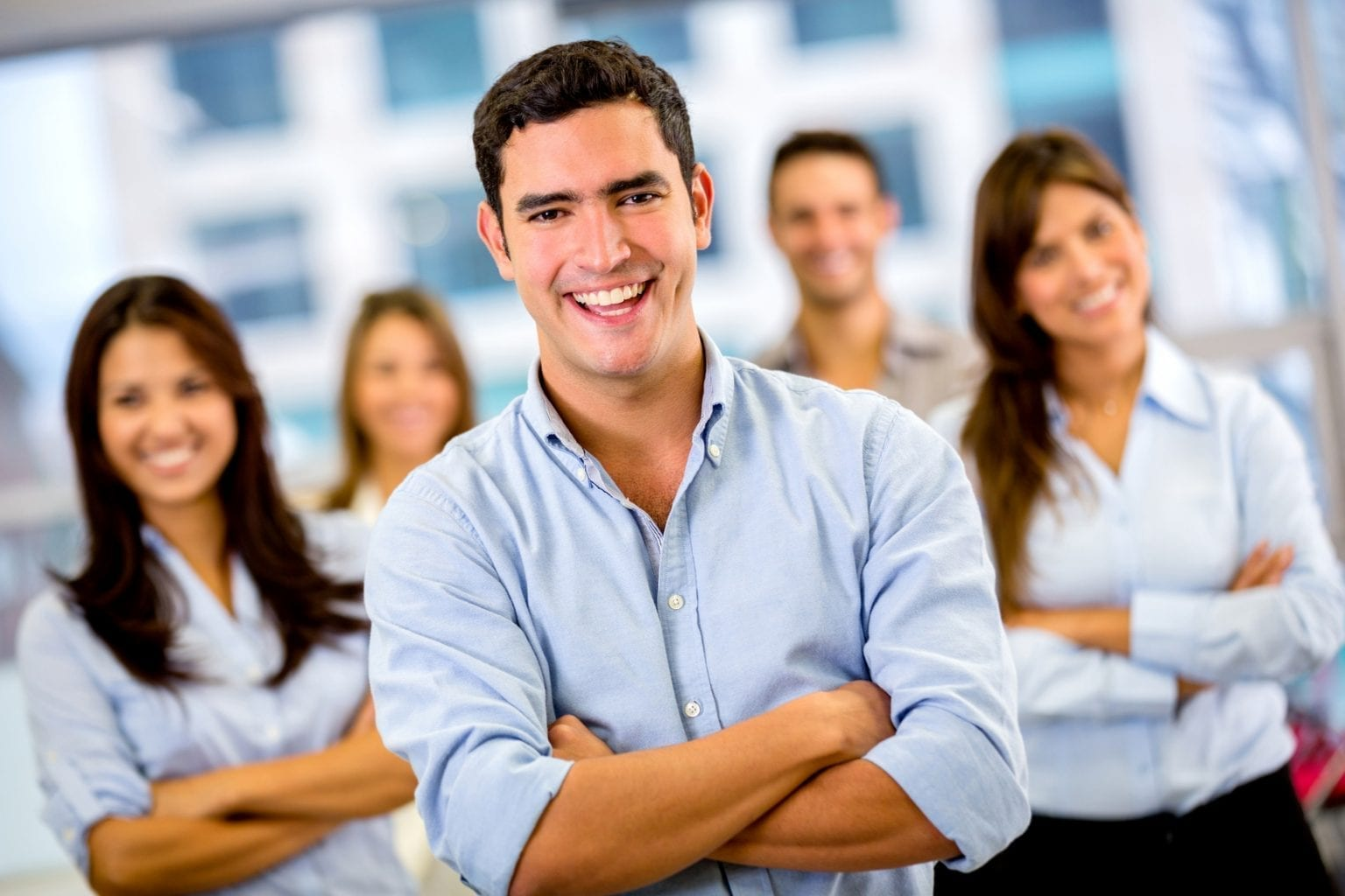 Allied Health Support Services Happy Business Team Image