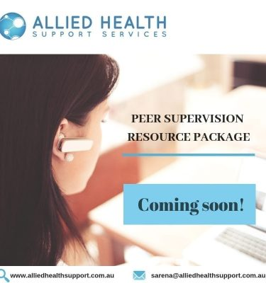 Allied Health Support Services Peer Supervision Package Coming Soon Banner