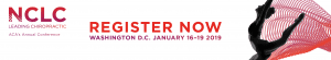 NCLC Leading Chiropractic ACA's Annual 2019 Conference Registration Banner