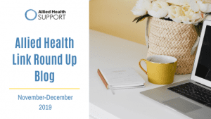 Allied Health Link Round Up Blog Nov 2019