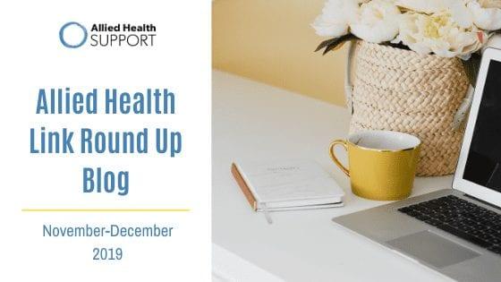 Allied Health Link Round Up Blog- November & December 2019