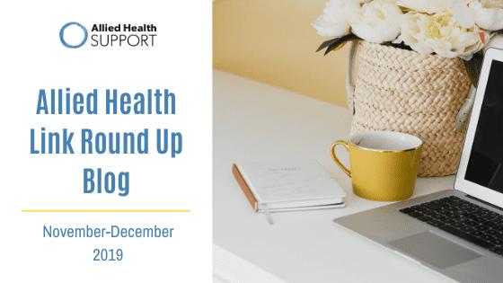 Allied Health Link Round Up Blog Nov 2019