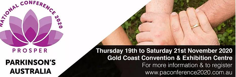 Parkinson's Australia Conference 2020 banner
