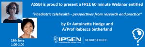 ASSBI FREE Webinar on Paediatric Telehealth banner