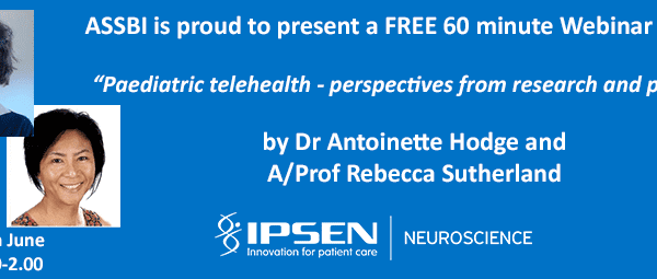 ASSBI FREE Webinar on Paediatric Telehealth banner
