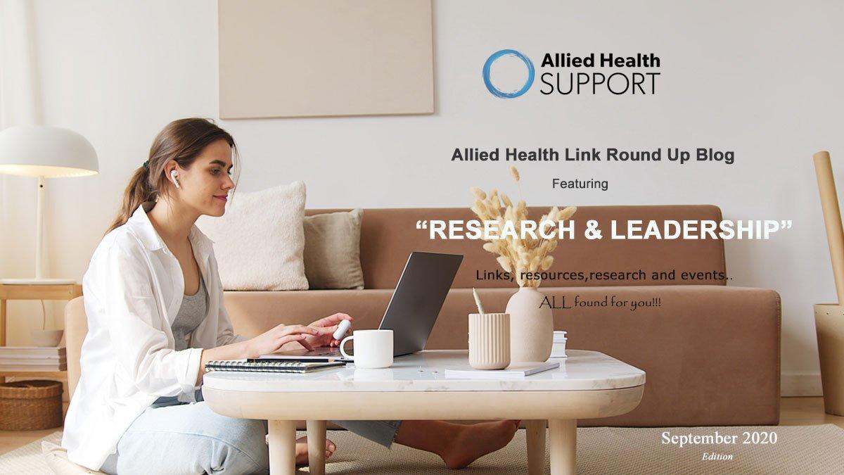 Allied Health Link Round Up Blog- September 2020