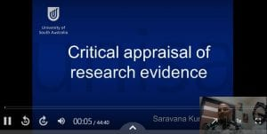 critical appraisal for allied health professionals